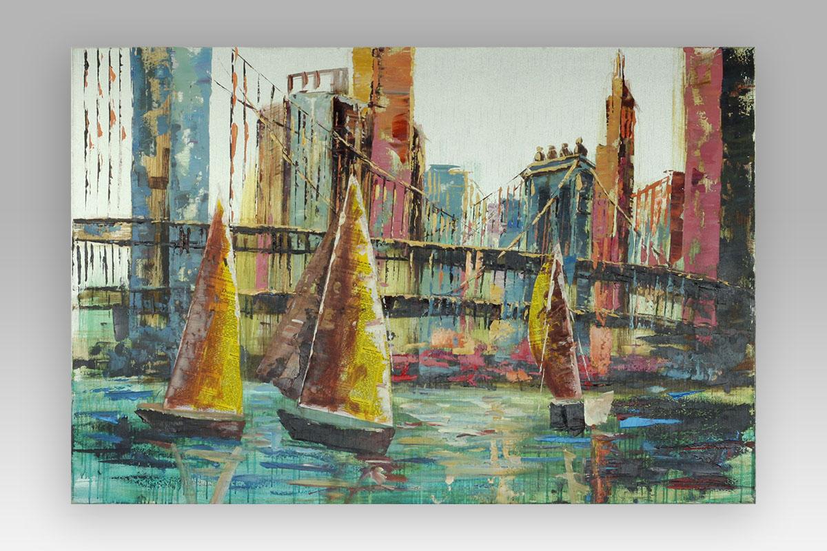 Obraz na plátně, olejomalba, ručně malovaný.