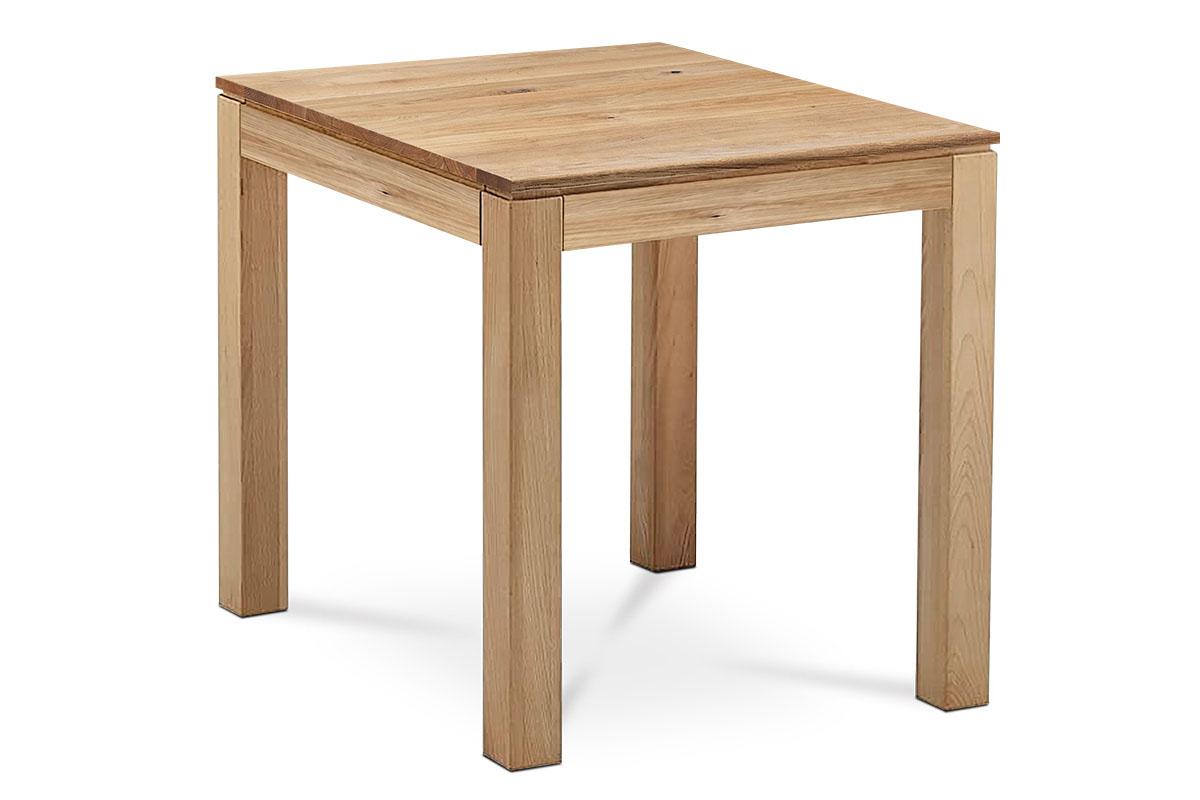 Jedálenský stôl 80x80x75 cm, masív dub, povrchová úprava olejom, nohy 8x8x cm
