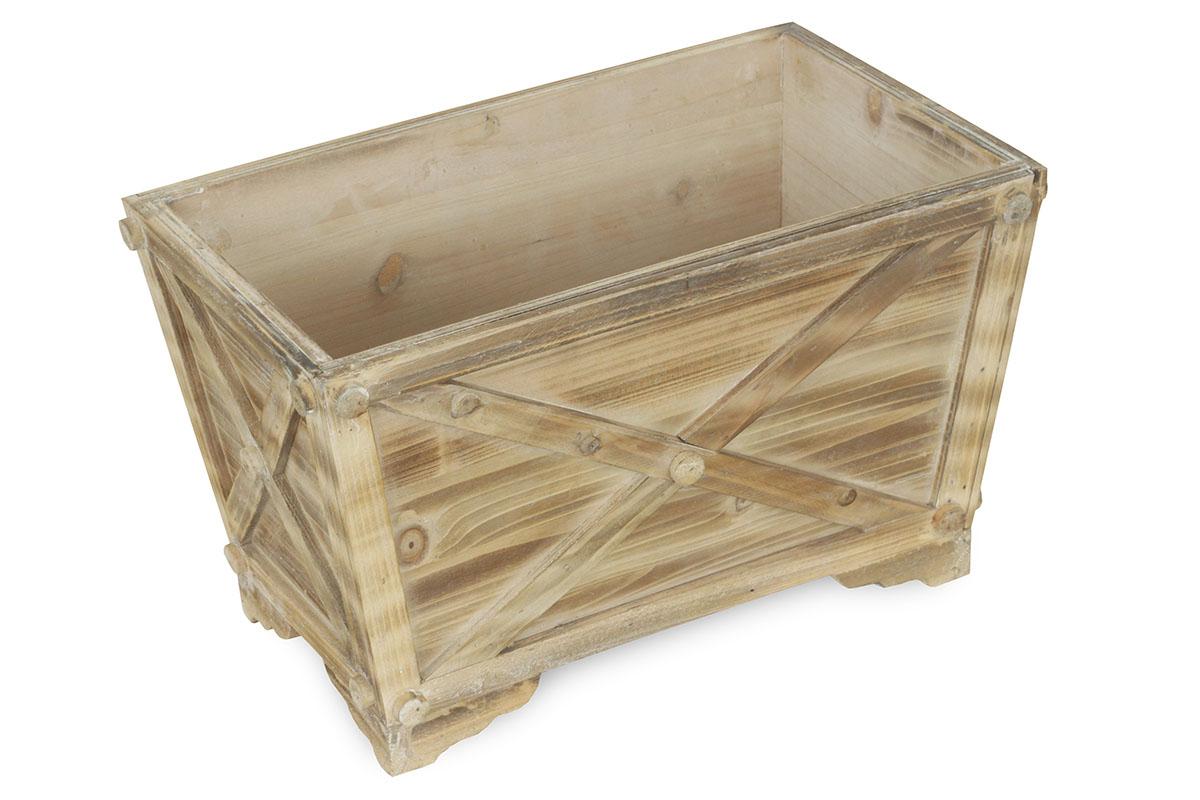 Drevený truhlík s igelitovou vložkou