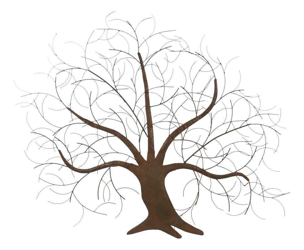 Kovový strom - dekorácia na stenu