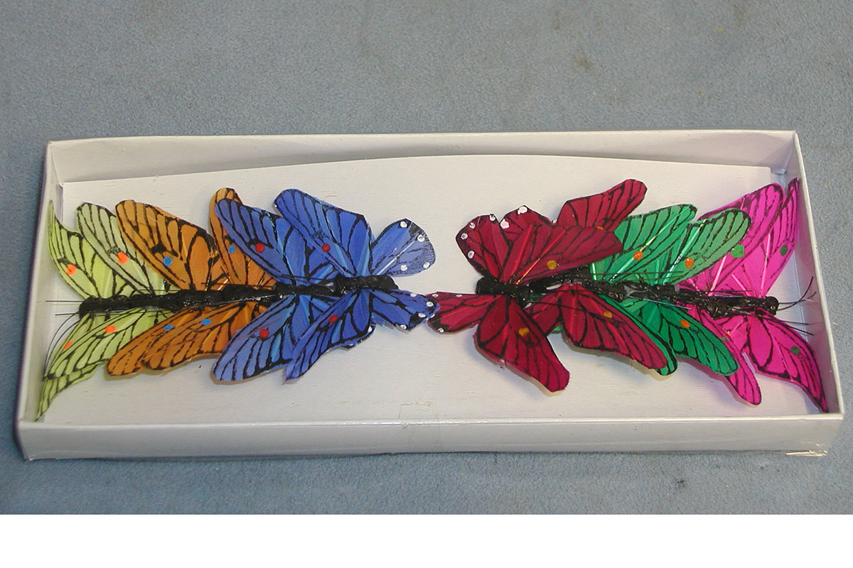 Dekoračný motýľ 5,5cm, cena za 1 ks, 12 ks v krab.