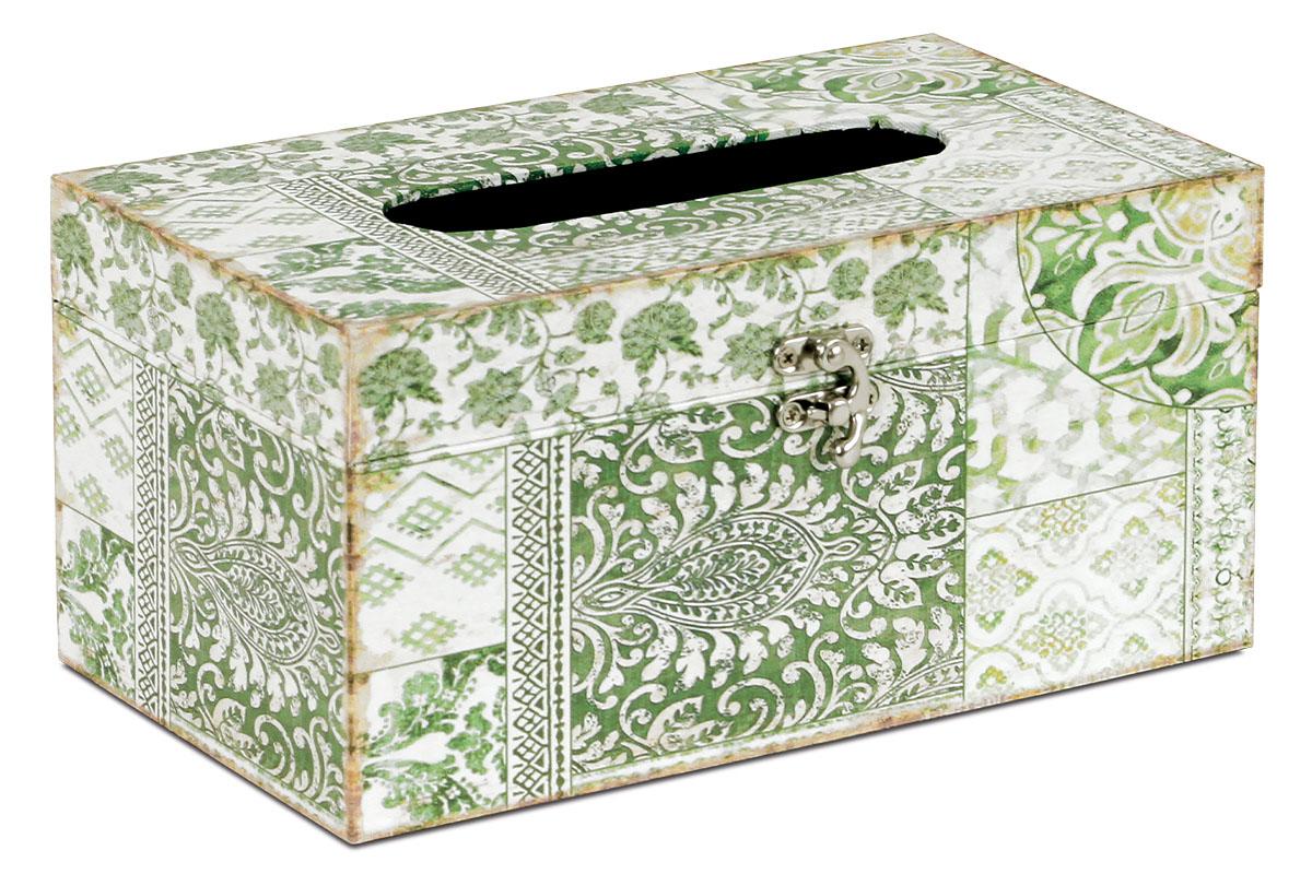 Krabička na vreckovky, MDF potiahnutá plátnom s potlačou
