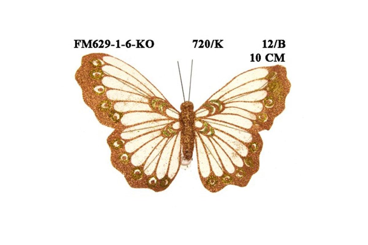 Dekoračný motýľ 10cm, cena za 1 ks, 12 ks v krab.