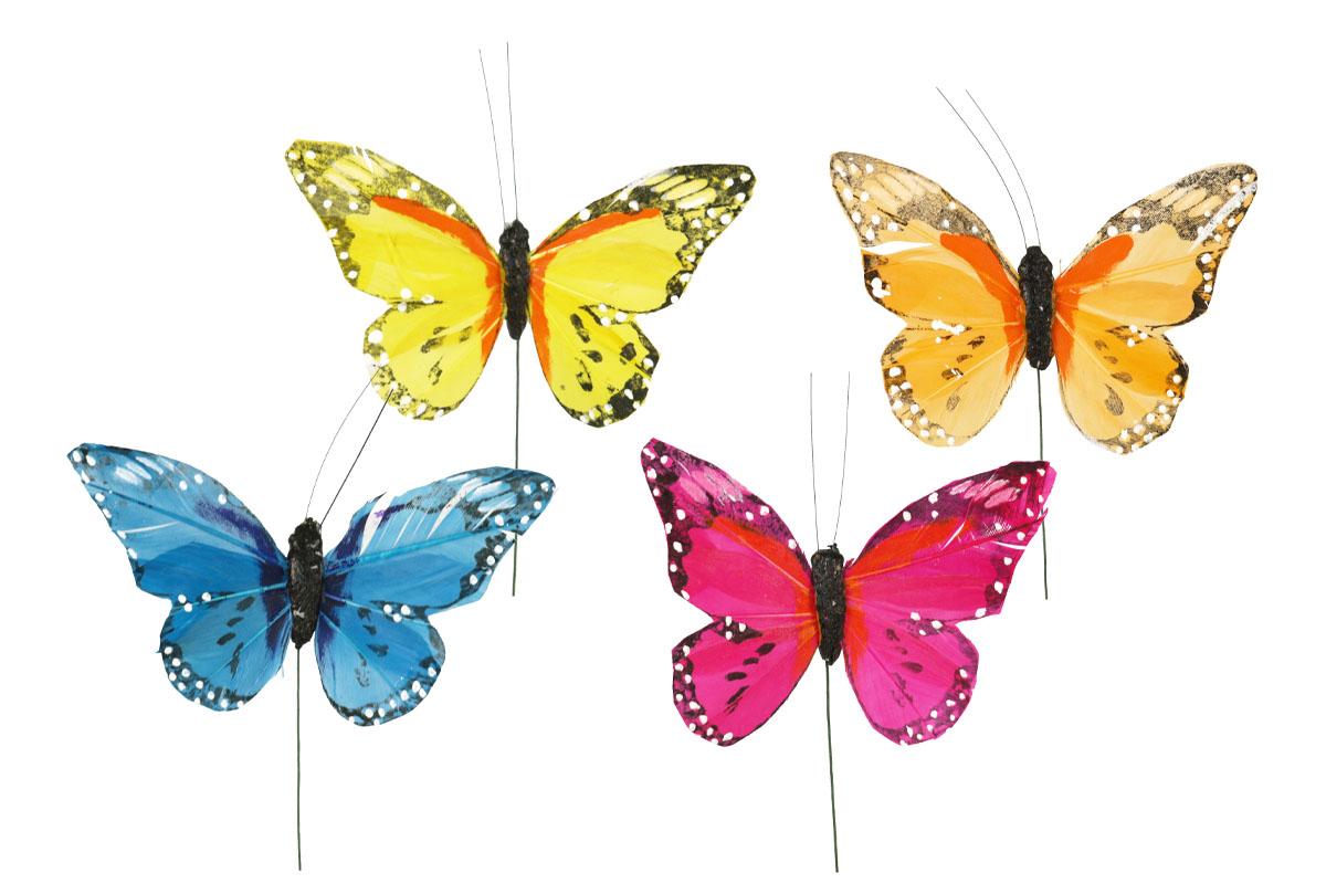 Dekoračný motýľ 10,5 cm, cena za 1 ks, 12 ks v krab.