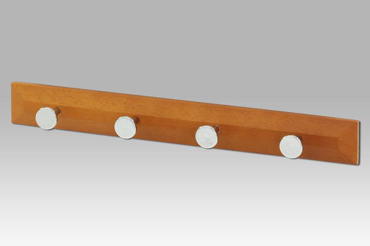 drevený vešiak, 4-háčikový, čerešňa