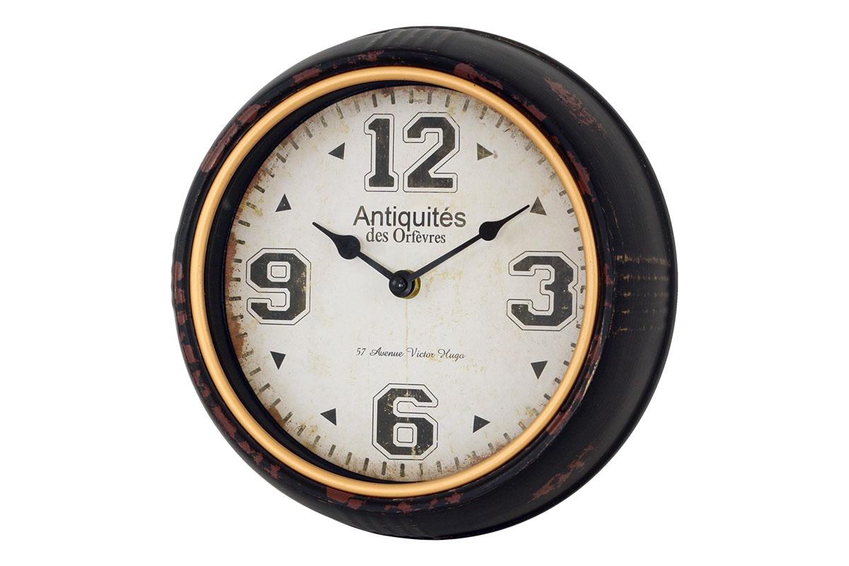 hodiny nástenné kovové pr. 24,5 cm