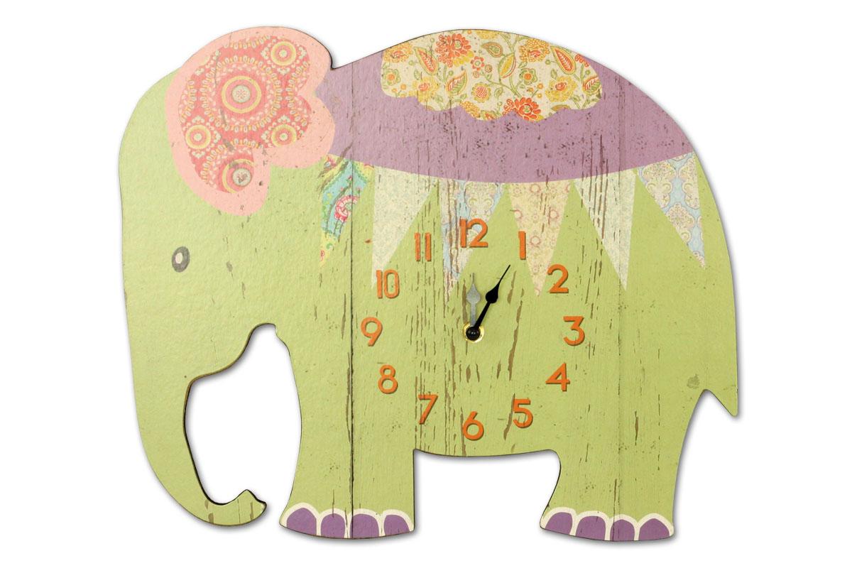 HODINY NÁSTENNÉ, tvar slon
