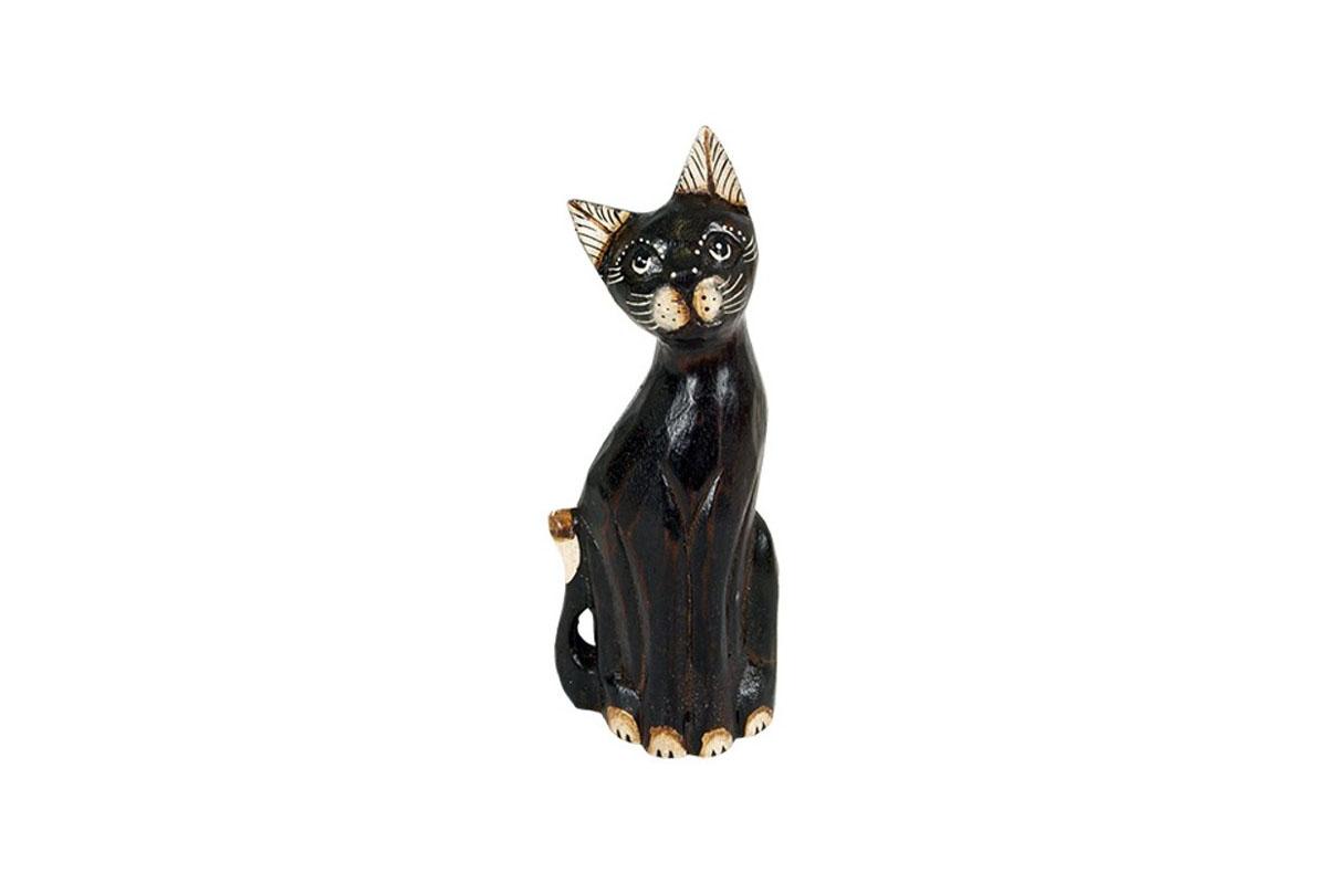 Drevená mačka 19cm