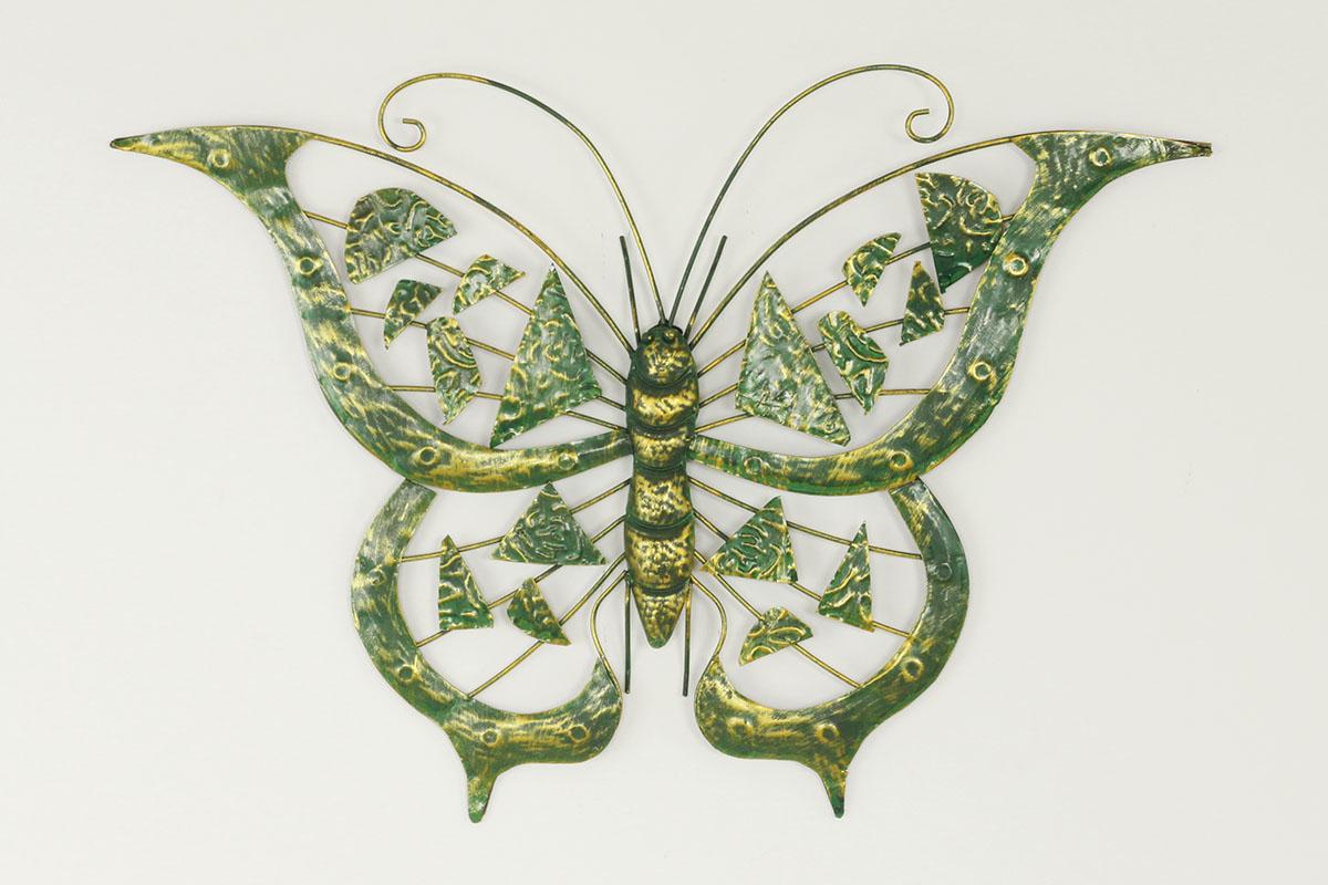 Nástenná kovová dekorácia - motýľ