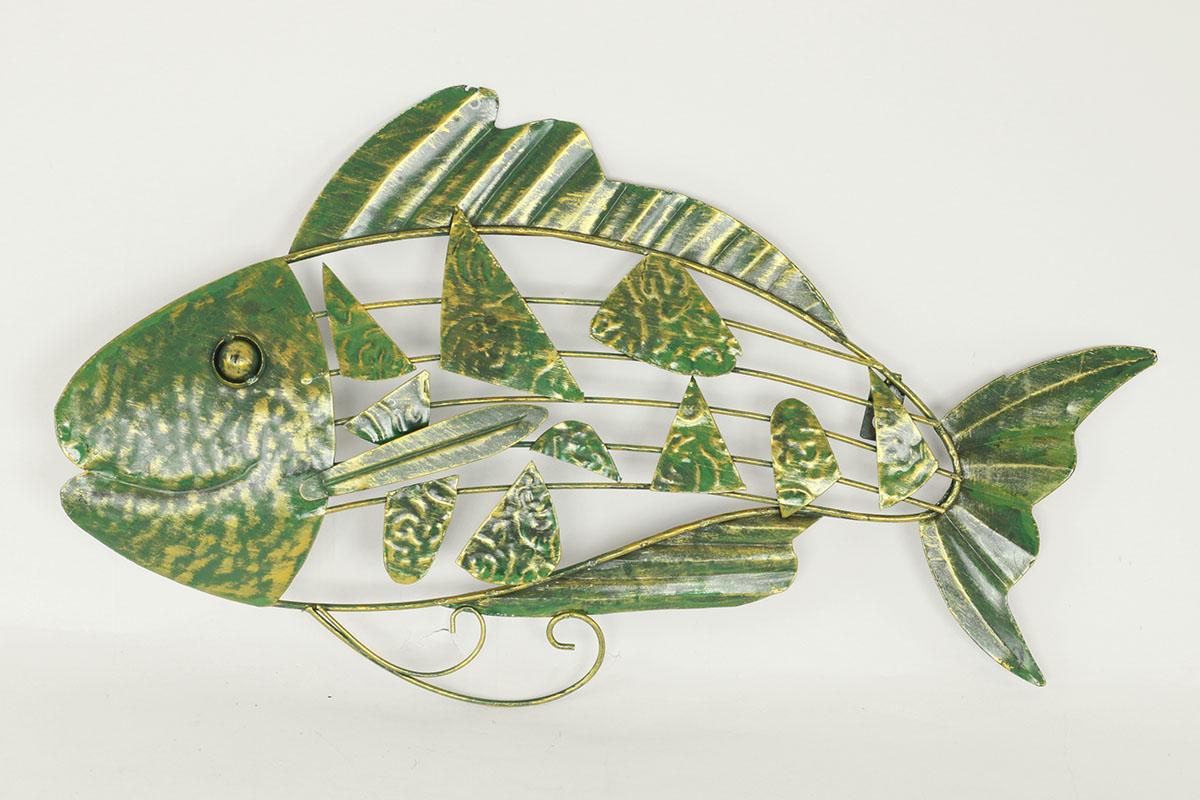 Nástenná kovová dekorácia - ryba