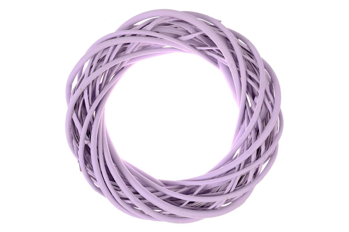 Proutěný věnec, barva fialová