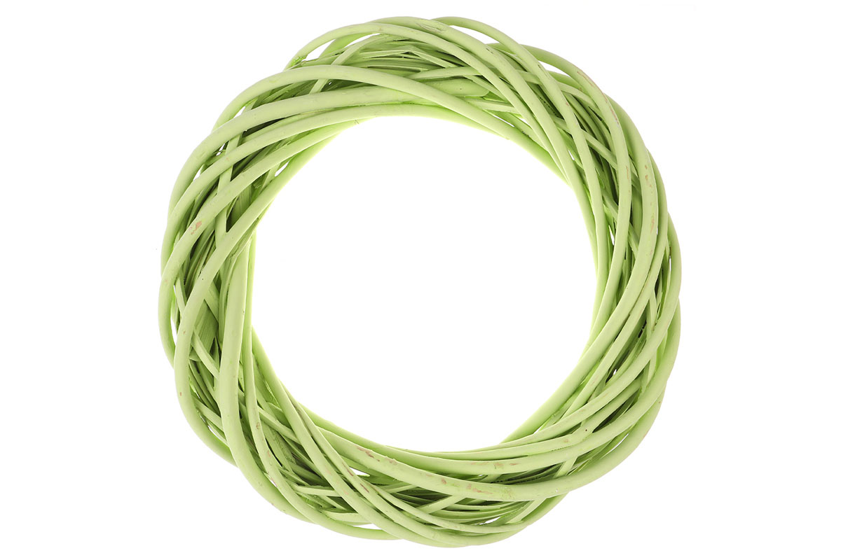 Proutěný věnec, barva zelená