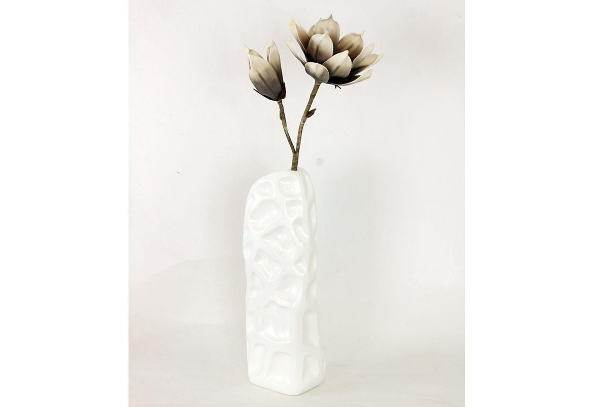 Magnólia béžovo-hnedá, umelý kvet penový