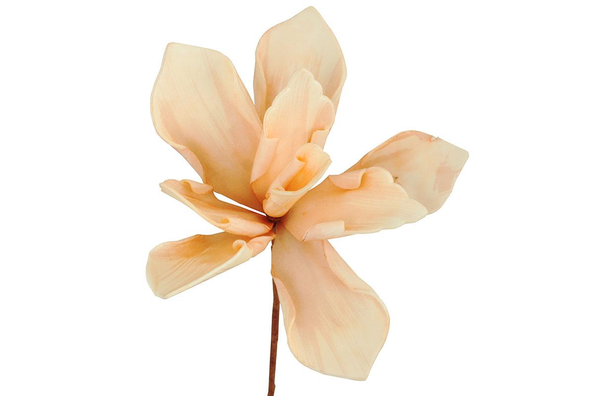 Umělá květina - barva meruňková