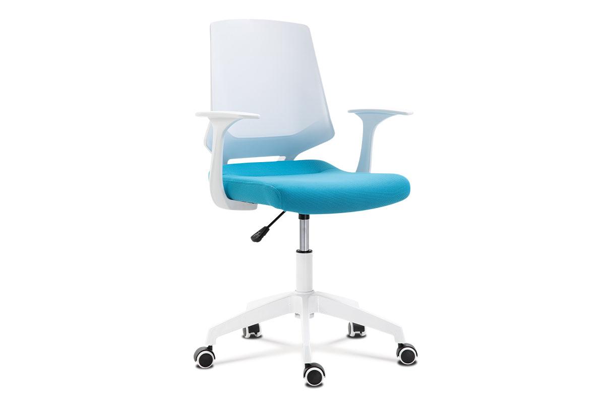 Office chair, WT PP, BLUE fab.seat, WT nylon base 600mm, Wtcas,tilt.