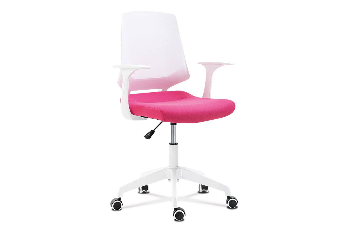 Office chair, WT PP, PINK fab.seat, WT nylon base 600mm, WTcas,tilt.
