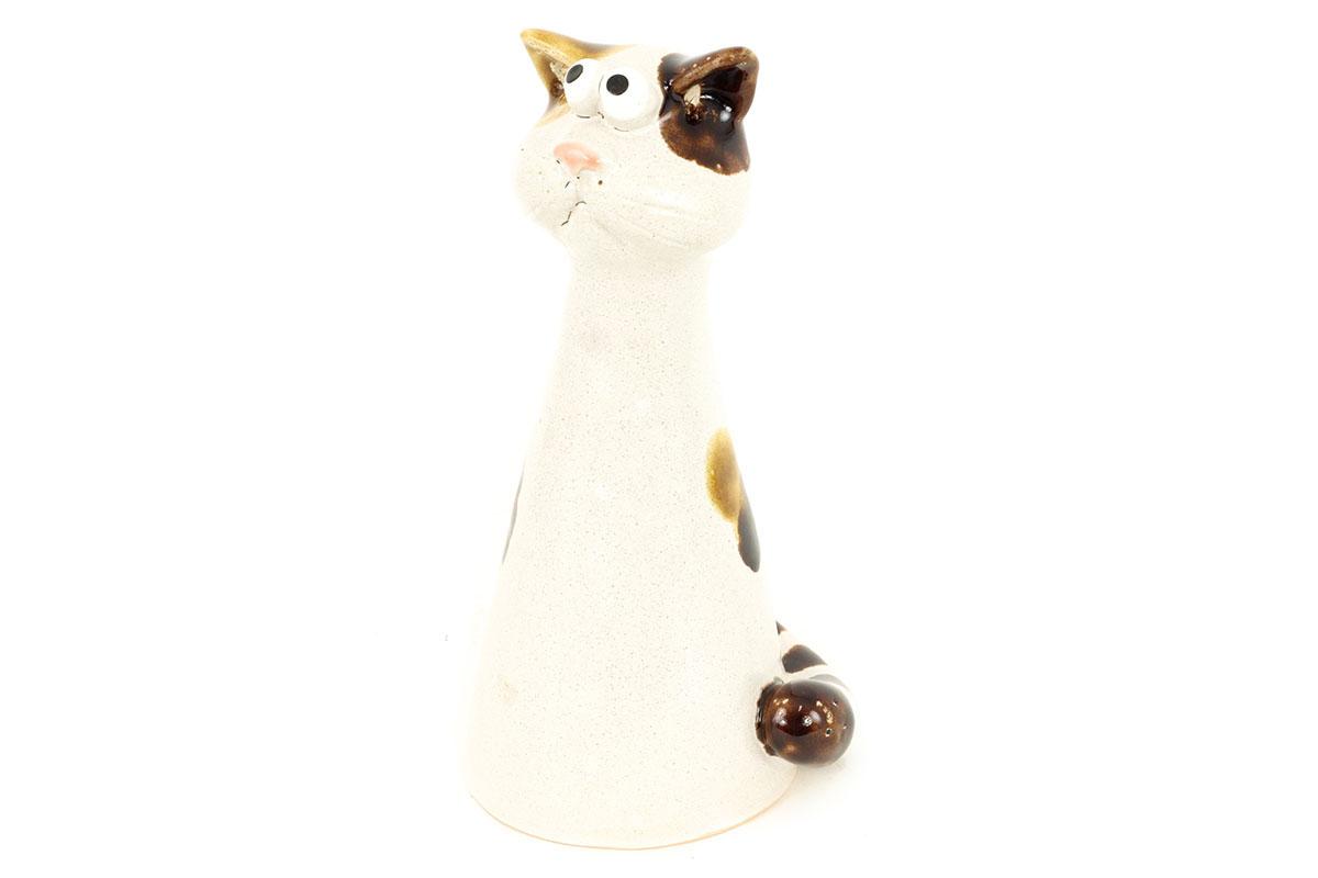 Mačička, keramická záhradná dekorácia na plot alebo na postavenie