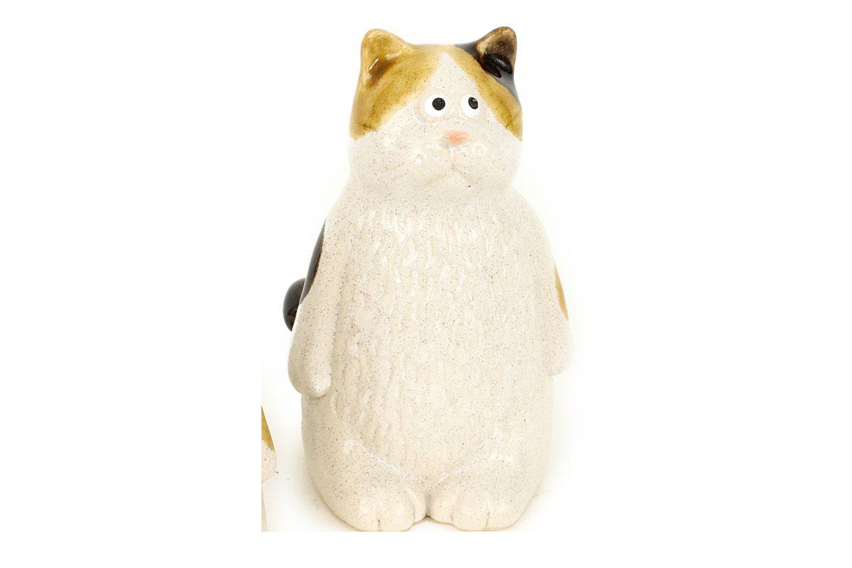 Mačička, keramická dekorácia