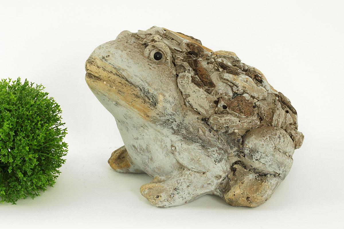 Žába,MgO zahradní keramika, design dřeva