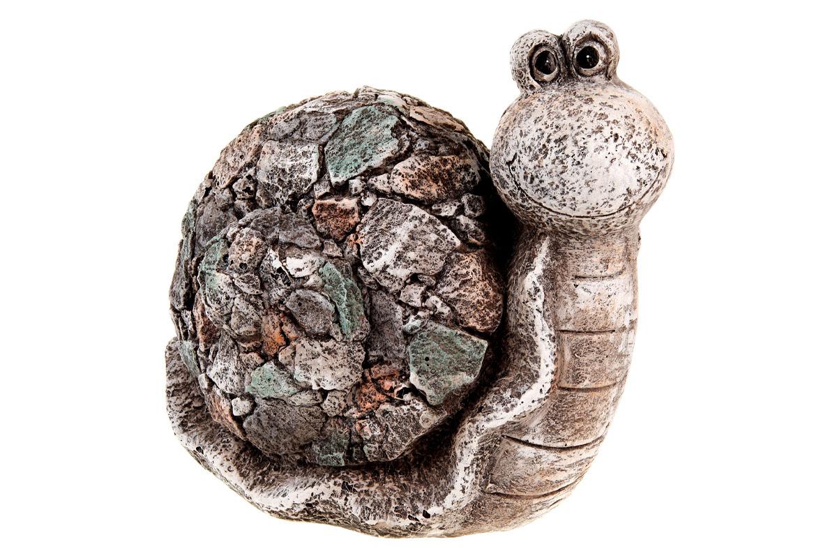 Šnek z magneziové keramiky, zahradní dekorace.