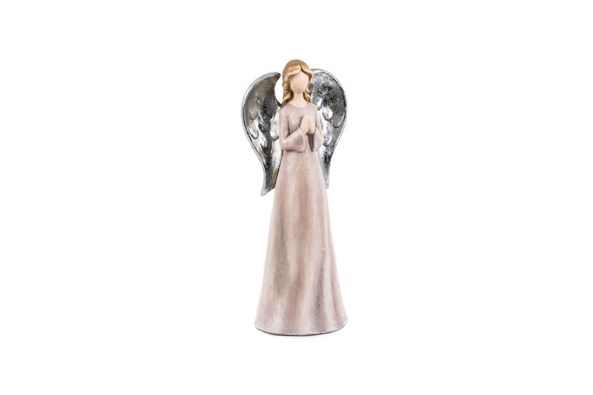 Anjel, ružová farba, polyresin