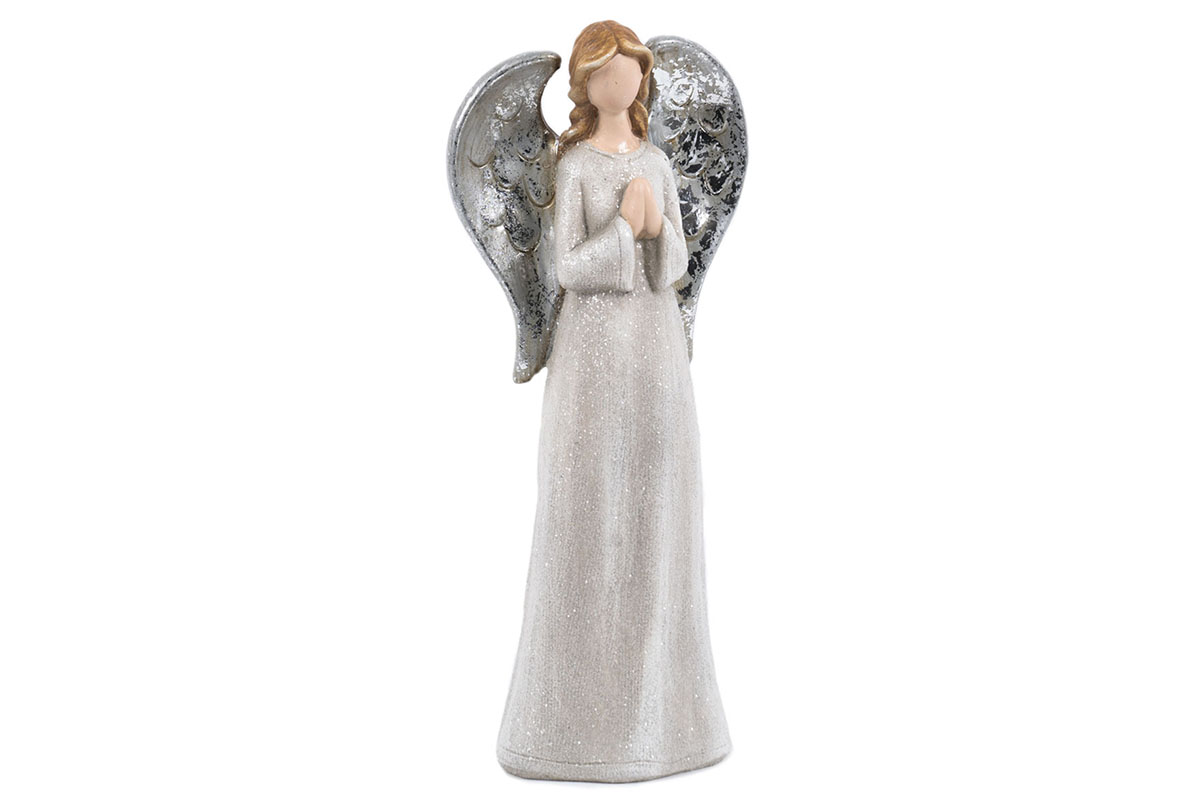 Anjel, krémová farba, magneziová keramika