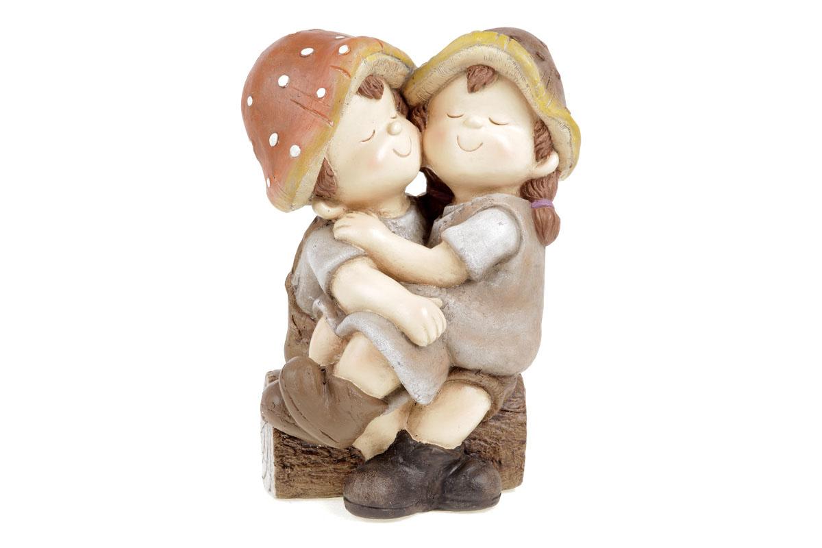 Houbové dětičky, zahradní magneziová keramika.