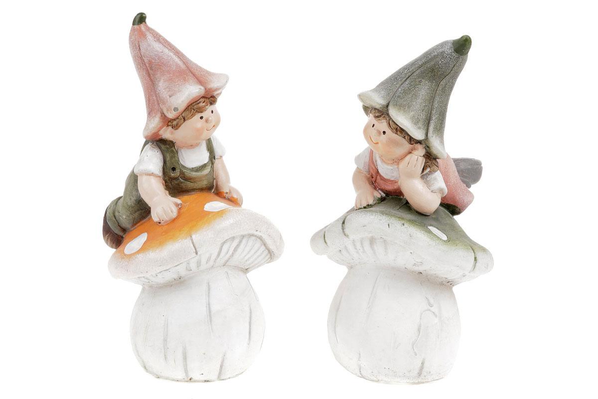 Zvonečkové děti na houbách, keramika. Cena za 1ks.