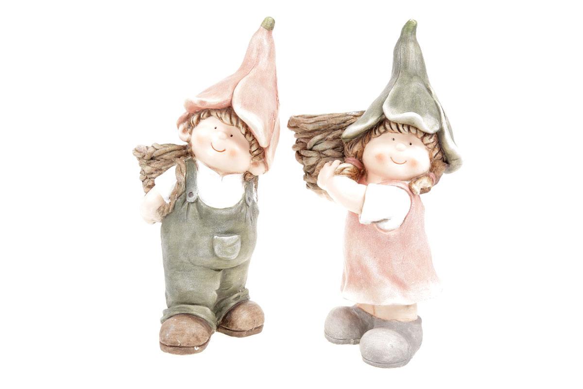 Zvonečkové děti s obalem na květiny. Magneziová keramika. Cena za 1ks.