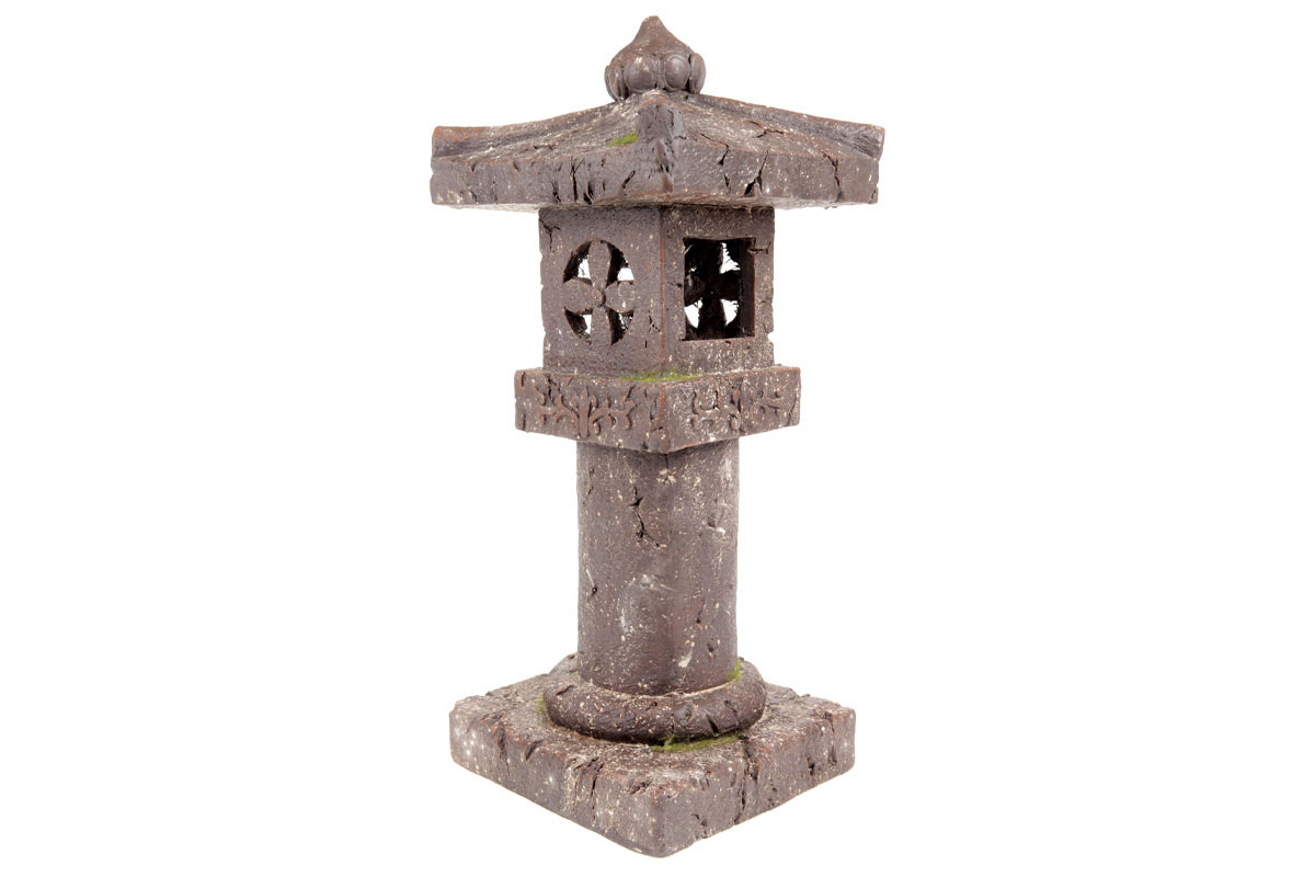 Pagoda se solárním světlem, zahradní magneziová keramika.