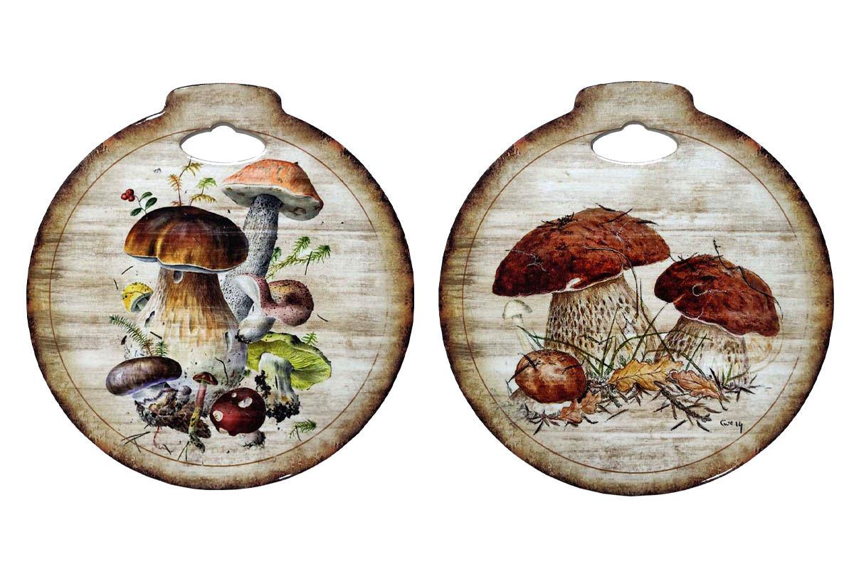 Kuchynská podložka z keramiky a korku, mix 2 vzorov, cena za 1 kus