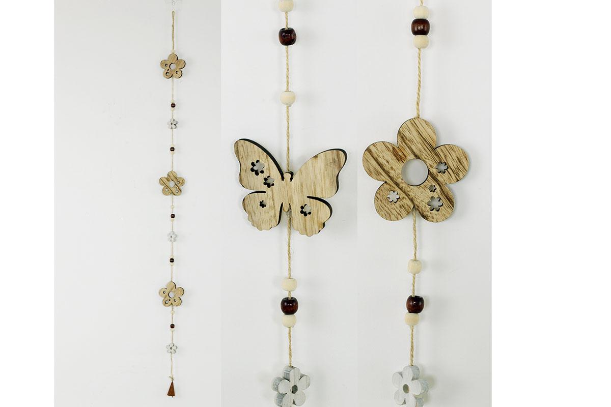 GARLANDA, drevená dekorácia na zavesenie