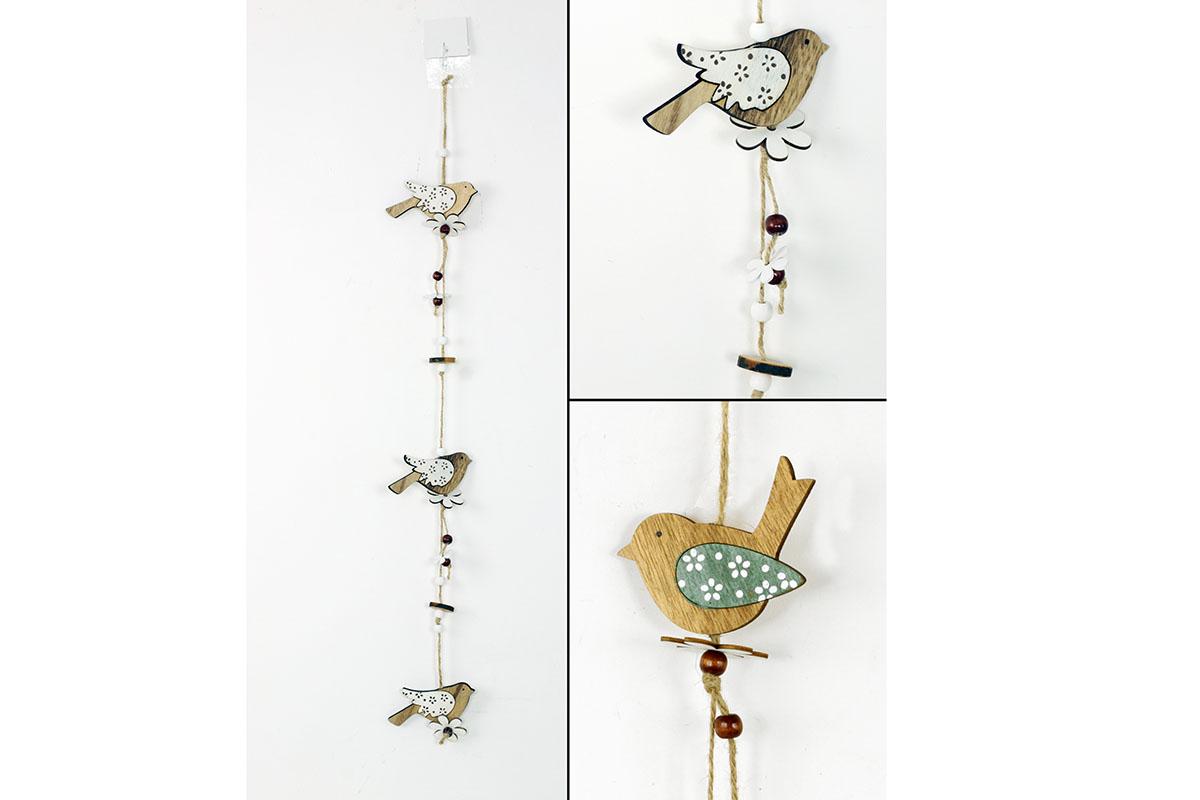 Girlanda, dřevěná dekorace na pověšení