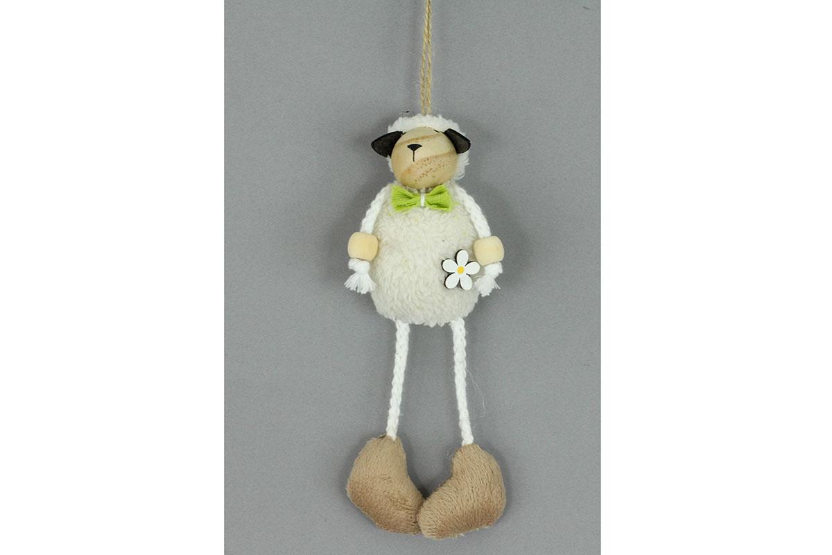 Ovečka, drevená dekorácia na zavesenie, 3 ks v bal., cena za 1 ks