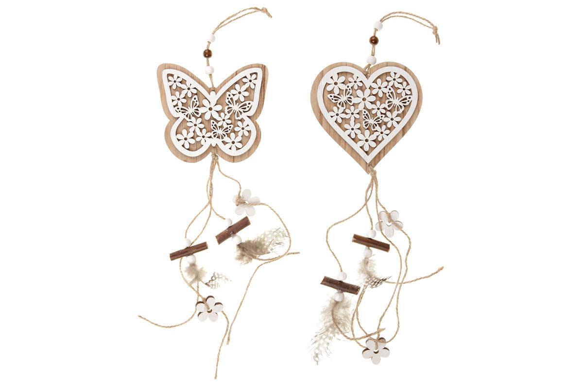 Srdce nebo motýl, Mdf girlanda.