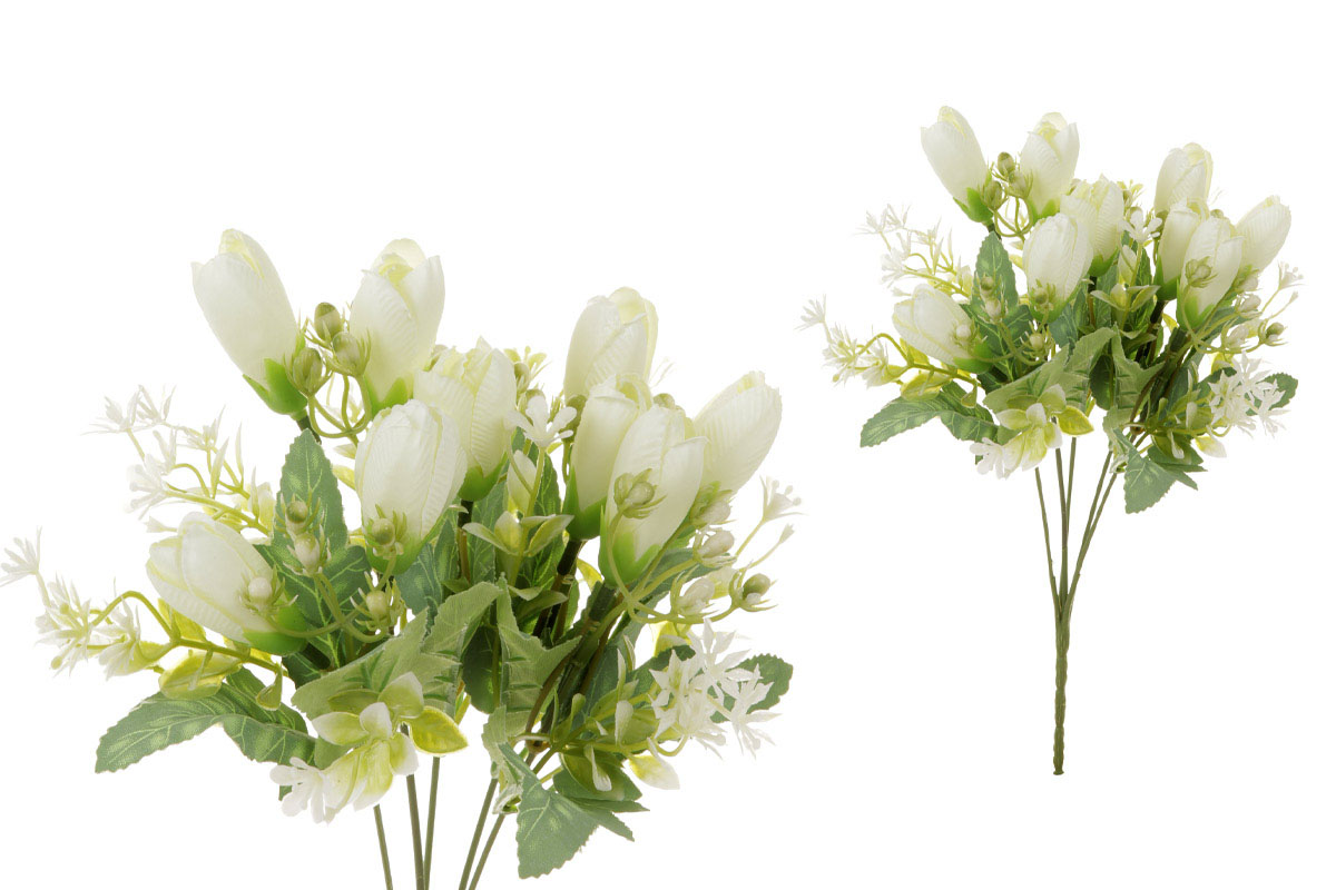 Květina umělá. Krokus, puget, barva smetanová