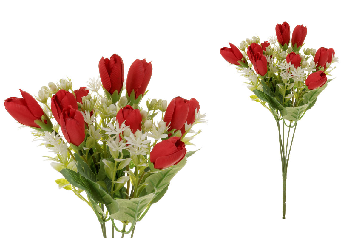 Květina umělá. Krokus, puget, barva červená