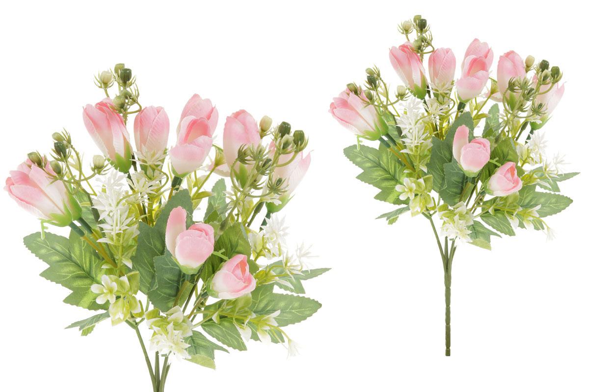Květina umělá. Krokus, puget,  barva lososvá