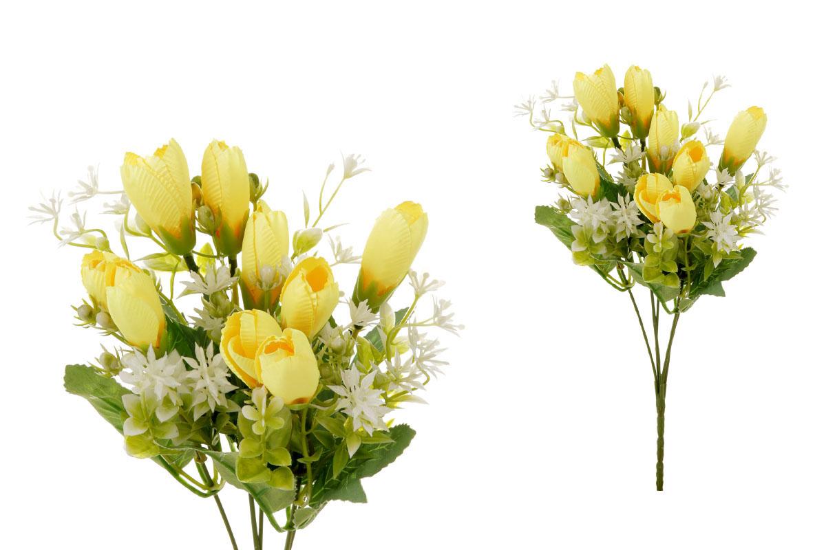 Květina umělá. Krokus, puget, barva žlutá