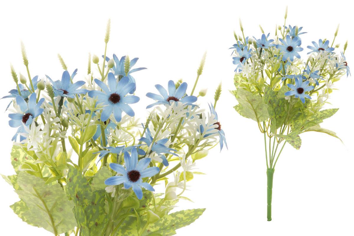 Květina umělá. Kopretina, puget, barva modrá