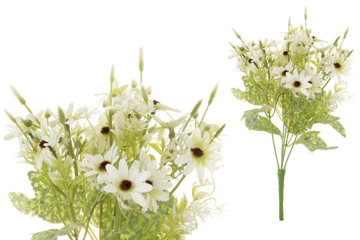 Květina umělá. Kopretina, puget, barva smetanová