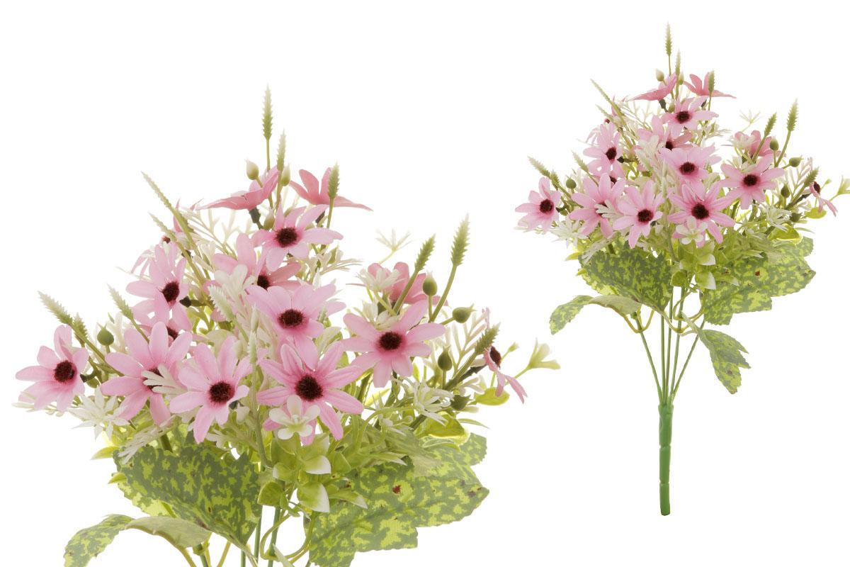 Květina umělá. Kopretina, puget, barva růžová