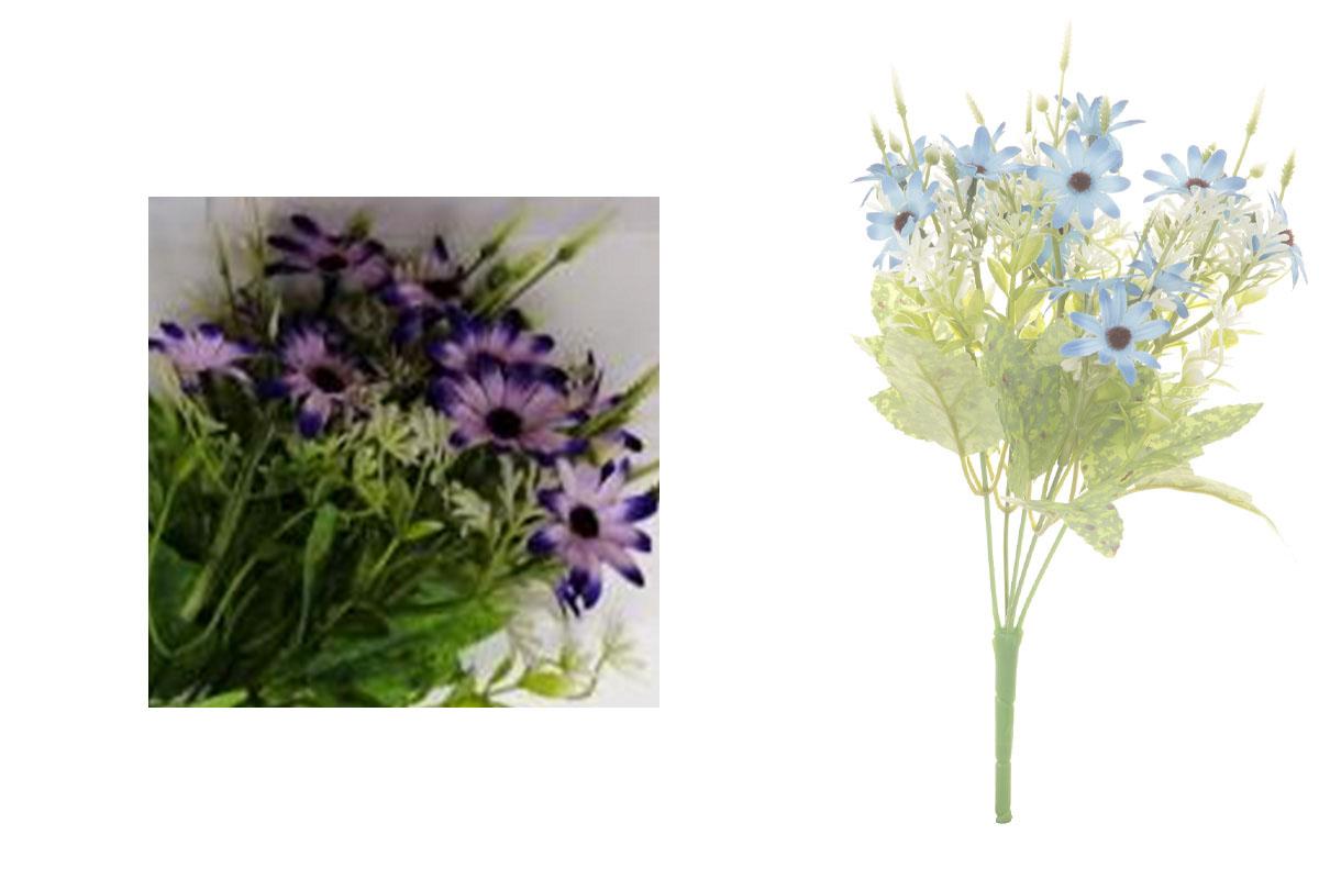 Květina umělá. Kopretina, puget, barva fialová