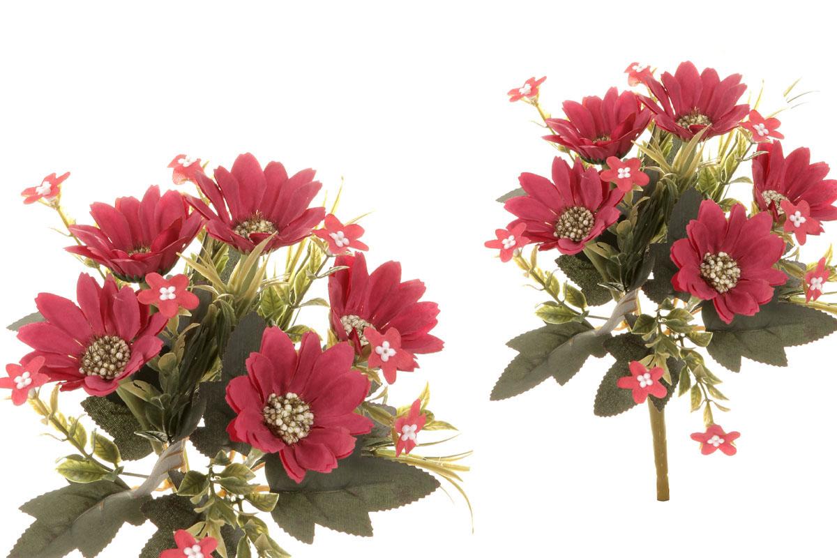 Květina umělá. Kapská kopretina, barva červená