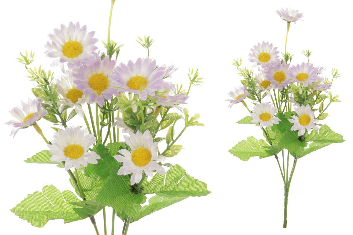 Květina umělá.  Sedmikráska, barva smetanovo-lila