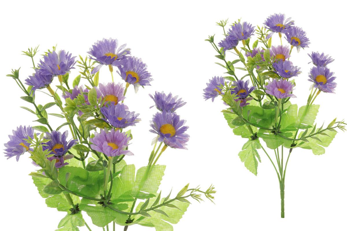 Květina umělá. Sedmikráska, barva fialová