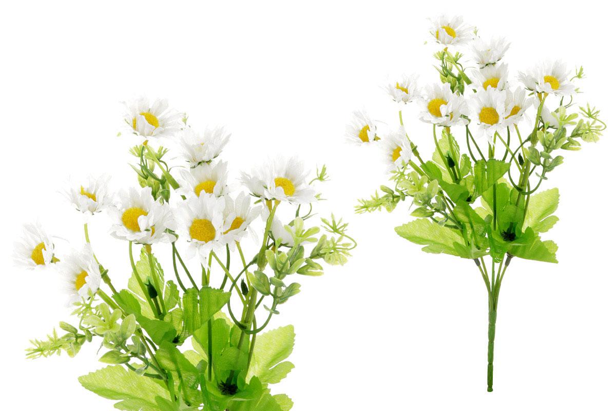 Květina umělá.  Sedmikráska, barva bílá
