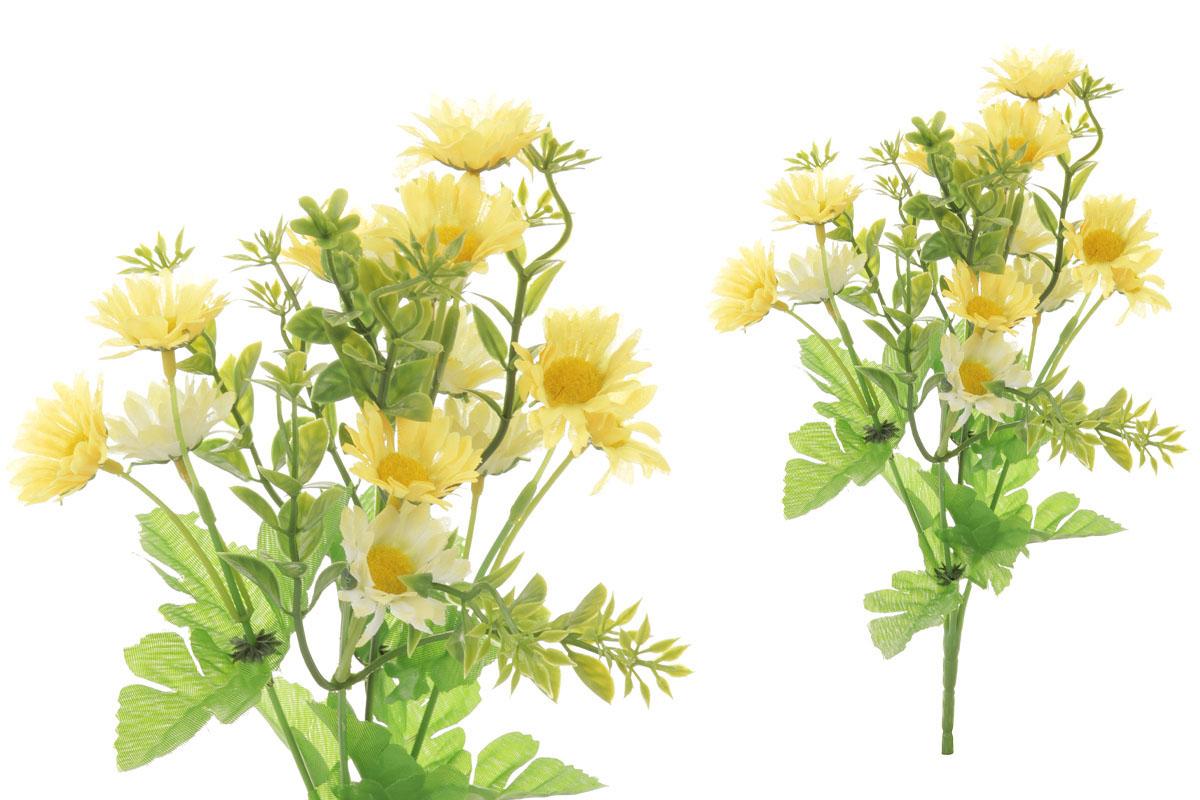 Květina umělá.  Sedmikráska, barva žlutá