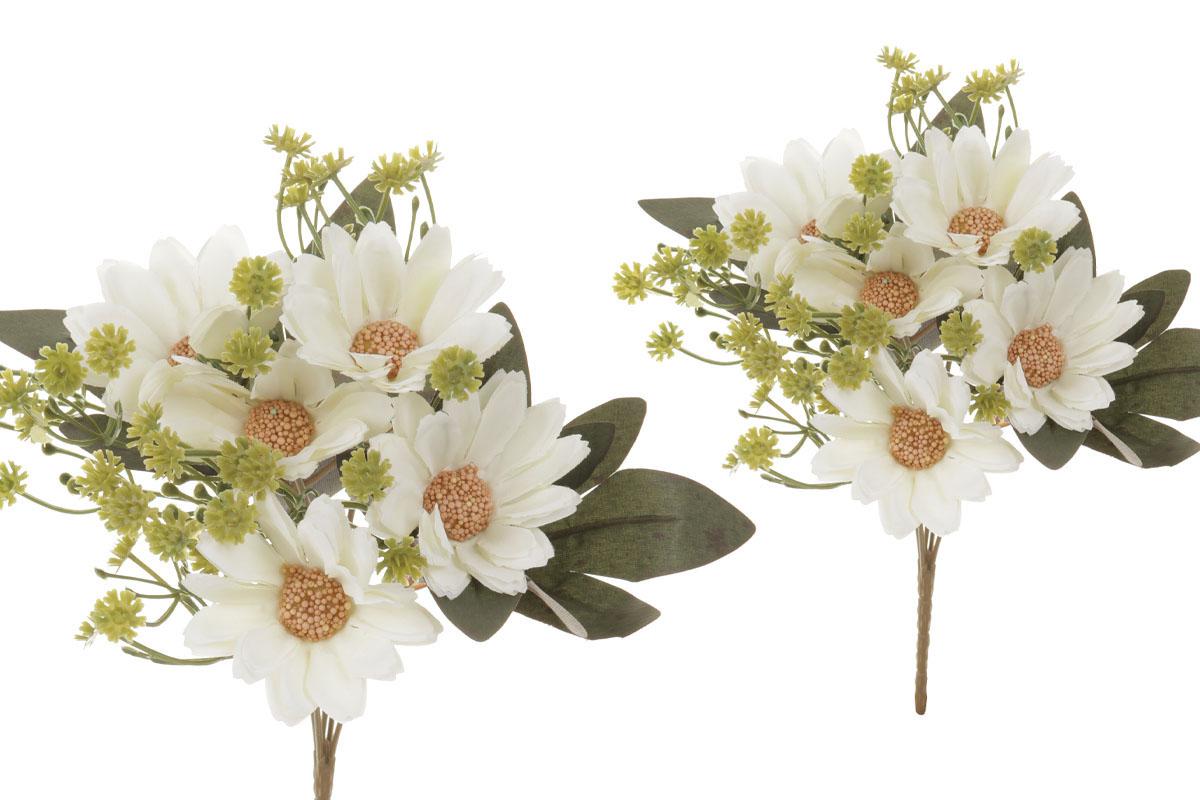 Květina umělá. Kokarda, barva smetanová