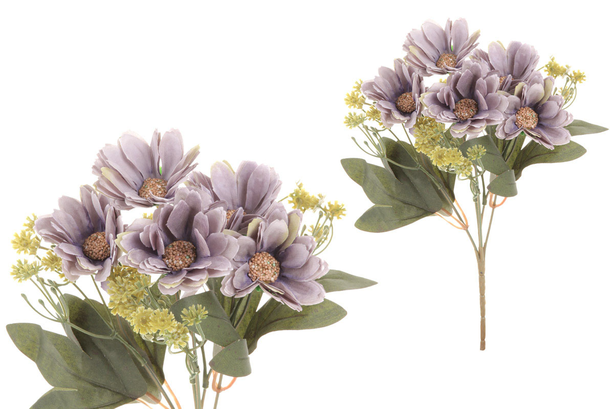Květina umělá. Kokarda, barva lila